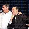 "Photo by Tony Powell. Chef Robert Wiedmaier, Auctioneer Sam Solovey. Starlight ""Bedtime Bash"". Four Seasons Hotel. November 20 2010"