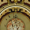 Looking down from the fourth floor to the lower levels of the Capitol building.