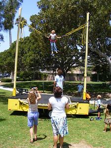 Andrea Herrick's daughter in the air