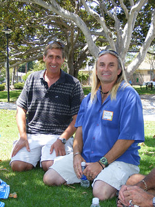 Andy McVay and Dave Shuyler both like the water