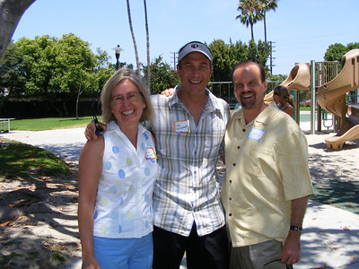 Classmates since Mariners Elementary School: Susan Skinner, Doug Brockmeyer, and Lance Wood.  Coincidentally, Doug and Susan both are involved in the world of neurology, while Lance has recently visited his urologist!