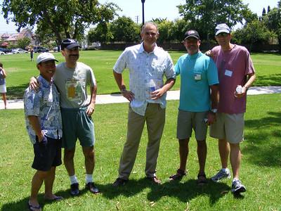 Classmates Steve Asahino, Vartan Piroumian, Don Holmes, Bruce Wyman, and Dave Knox