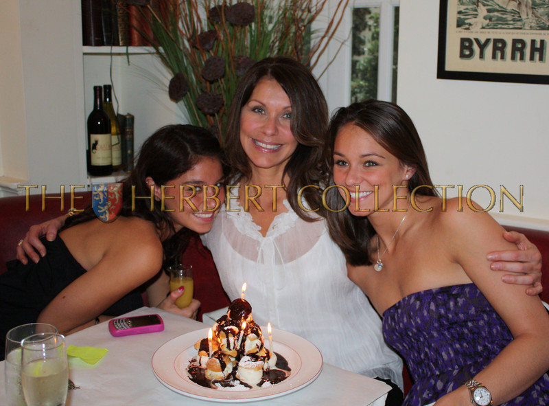 Proud Mother Carol Press (center) with daughters Lauren and Danielle