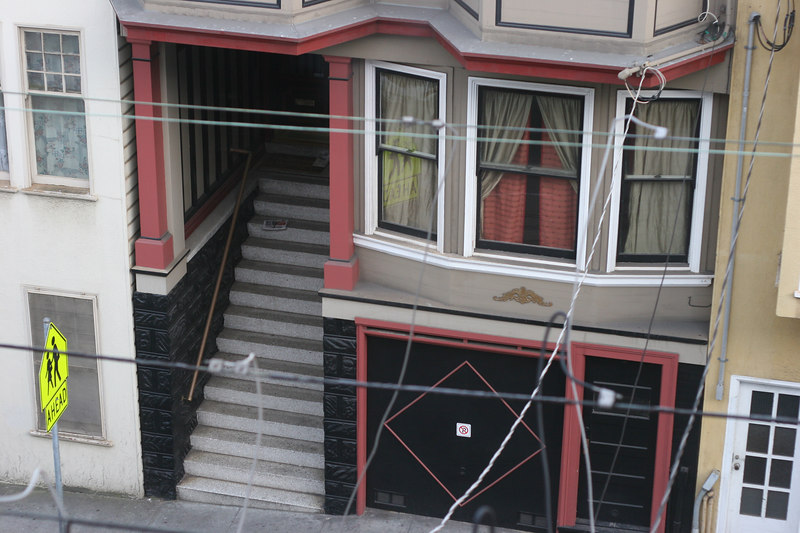A view from Forrest's window in SF.