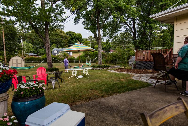 The  yard looks ready.