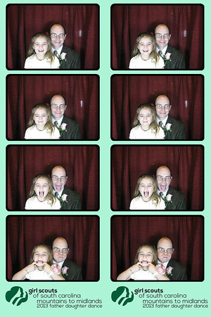 """The Girl Scouts Father Daughter Dance at the Marriott 01/11/13 Booth 3 front left"
