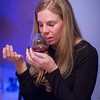Emily tries a snifter of Armagnac.