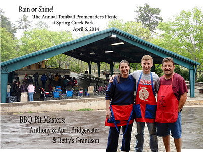 Tomball Promenaders 2014 Annual Picnic, Spring Creek Park, 4/6/14