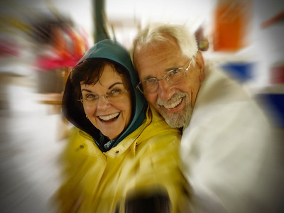 Keeping each other warm: Kathy & Steve Warr