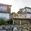 The beach house complex (High Tide and Low Tide on the left, Beach House on the right) that we rented for the weekend.