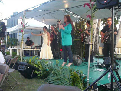 Video - Amy singing Hawaiian song with Hula dancer   Yacht Club - Transpac party 7/15/2009