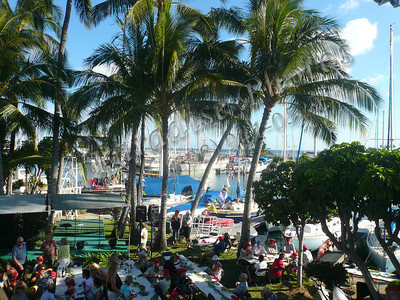 end of Transpac 2009 race party at Yacht Club