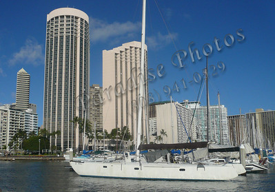boat and buildings yacht harbor 071509