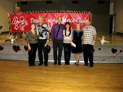 Novice Contest Winners   Lynn & Vern -3rd,  Nick & Maggie - 2nd,  Cindy & Scott - 1st