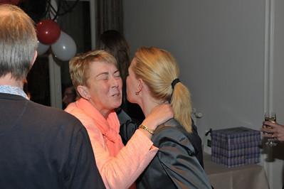 Rosa begroet Yvonne.