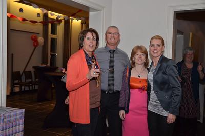 Monique, Patrick, Sabine en Yvonne.