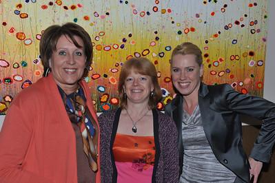 Monique, Sabine en Yvonne (vrienden BMW Motor Club Vlaanderen).