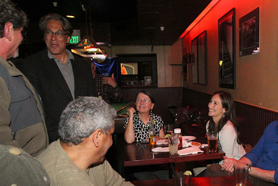 Ross Mirkarimi, Lou Gordon, Laurel Muñiz, Eliana Lopez.  The Buck Tavern, 1655 Market Street, San Francisco, September 7th, 2012, evening.