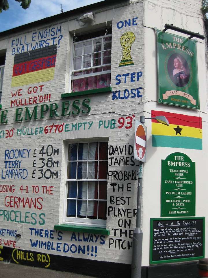 The  Empress pub in Cambridge