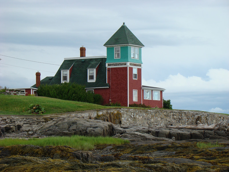 This is one of the cottages overlooking the bridge.