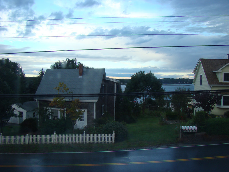 This was the view out of the cottage window where I was staying. We had rain that night, but you can still see the ocean from the window.