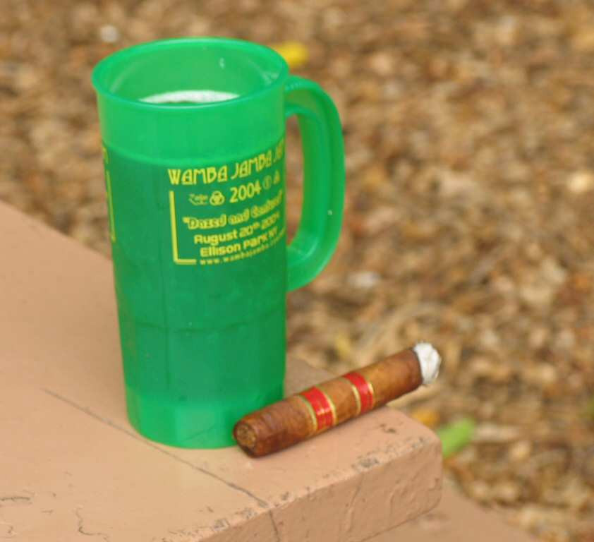 Nothing like a good cigar with a brew.