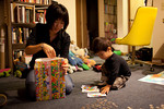 Livia wraps Warren's gift while Jack assembles the United States