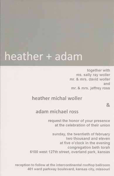 Heather Wedding Invite