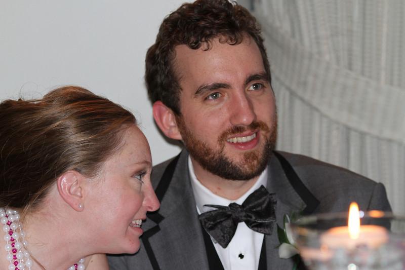 Heather and Adam at their wedding reception in Kansas City.