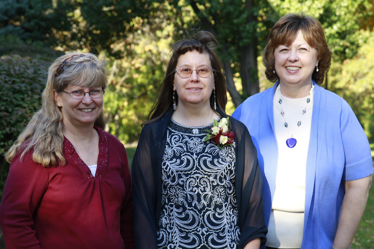 Cyndy, Sherri, and Sue at Luke's wedding.