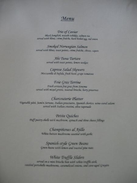 Main Menu of Chez Arlene