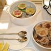 Caviar Trio - black lumpfish, salmon roe, wasabi tobikko. And I made some blinis on the side!