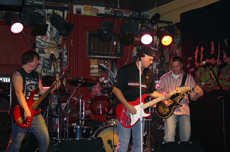 Mike, Scott, Jimmy and Todd onstage at the brew December 22nd.