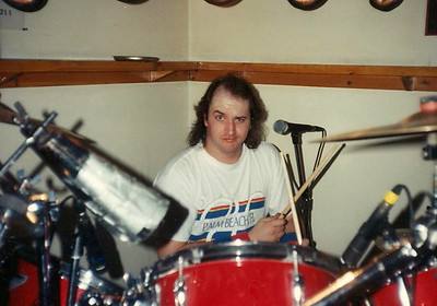 A young Scott Berlin behind his drums.  ( 1993 )