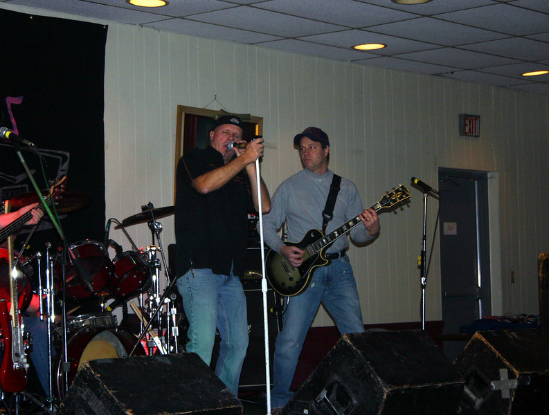 Jimmy and Todd on stage at the Moose Lodge