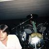 Scott behind the drums