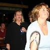 Freda and Jenni watching the band