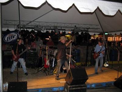 Blind Alley plays in the beer garden for Wilton Founders Days ( 2009 )