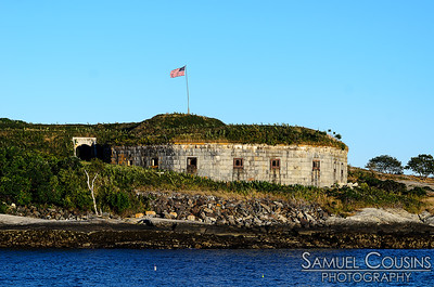 A fort on a nearby island.
