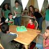 """Singing """"Happy Birthday"""" to the birthday boy."""