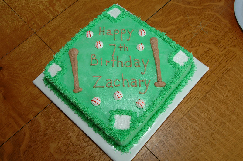 The theme of Zac's 7th birthday party was baseball.