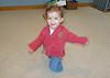 Mattie knee-walking in the loft