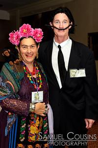 Frida Kahlo & Salvador Dali - Ghoulwill Ball 2014