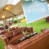 Handsome leather furniture worked perfectly for our Affinity Tents.