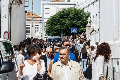 2017-07-04  Funeral do presidente da Câmara Municipal de Sesimbra, Augusto Pólvora  LOCAL: Cerimónia fúnebre na Igreja Matriz de Sesimbra