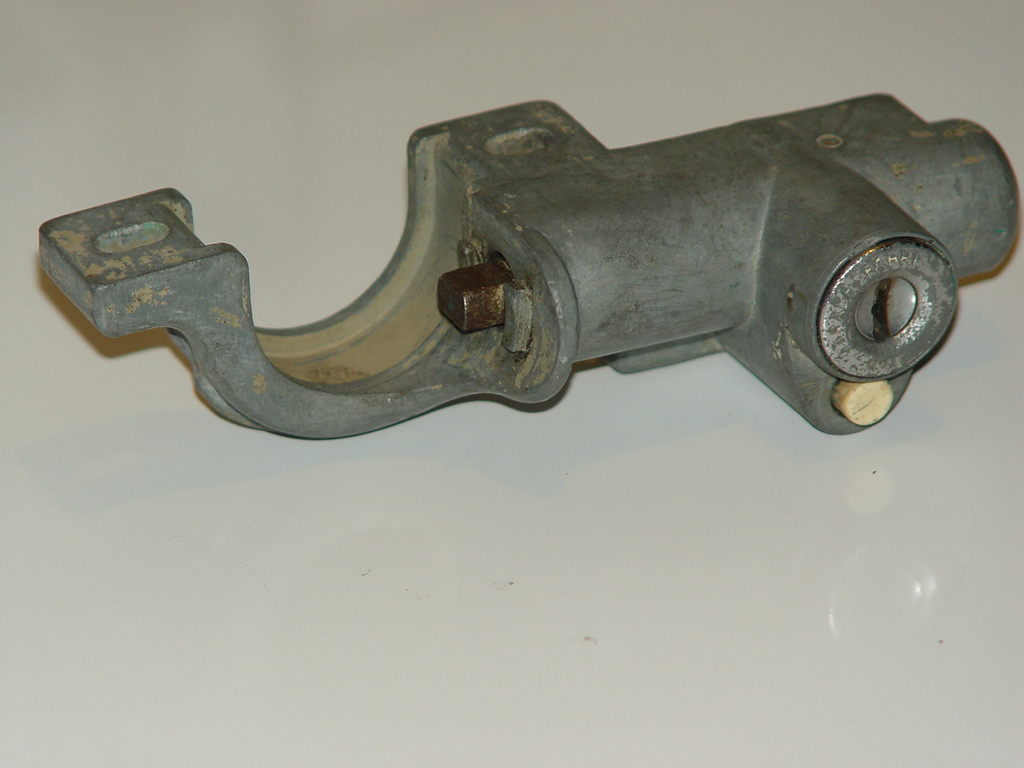 Oval Neimann Steering Lock.1    Price:$150<br /> No key and no rear cover.