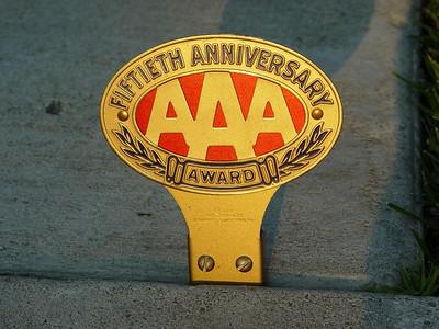 AAA Fiftieth Anniversary Award badge