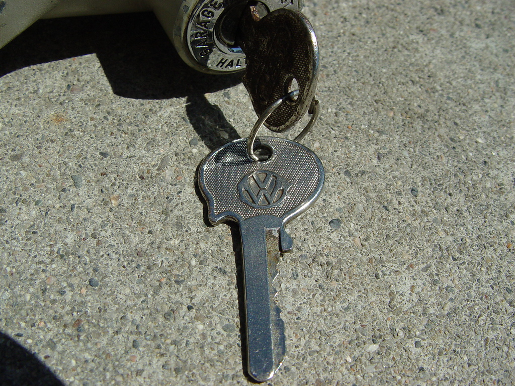 Neimann Steering Lock. - $180<br /> Lock is in very nice condition. Comes with to original Neimann Keys.
