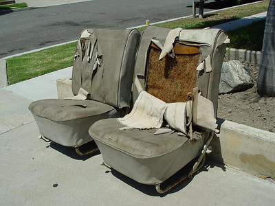 Pair of Late Oval front seats