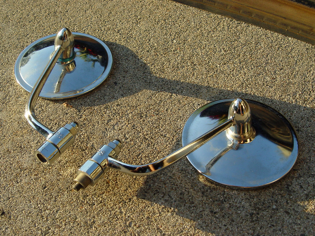 101 Style Sideview mirrors (Pair) - $20<br /> They are used but in very nice condition. I had them on my vert but went with Alberts. They should clean up nicely.